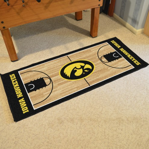 Iowa Hawkeyes Basketball Court Runner Rug