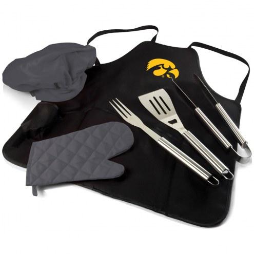 Iowa Hawkeyes BBQ Apron Tote Set