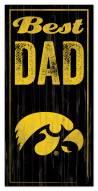 Iowa Hawkeyes Best Dad Sign