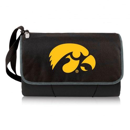Iowa Hawkeyes Black Blanket Tote
