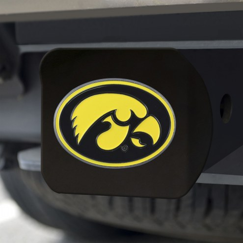 Iowa Hawkeyes Black Color Hitch Cover