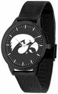 Iowa Hawkeyes Black Dial Mesh Statement Watch