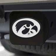 Iowa Hawkeyes Black Matte Hitch Cover