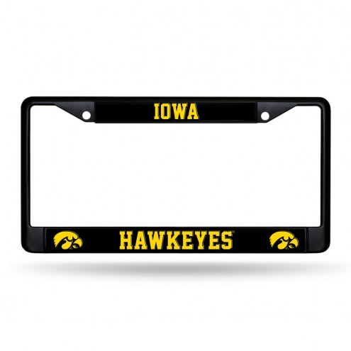 Iowa Hawkeyes Black Metal License Plate Frame