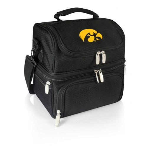 Iowa Hawkeyes Black Pranzo Insulated Lunch Box