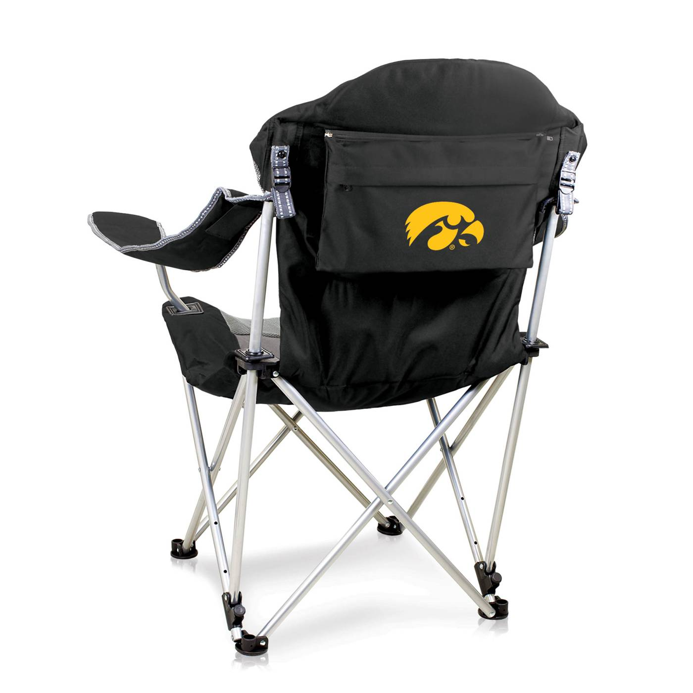 Astonishing Iowa Hawkeyes Black Reclining Camp Chair Beatyapartments Chair Design Images Beatyapartmentscom
