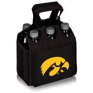 Iowa Hawkeyes Black Six Pack Cooler Tote