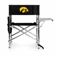 Iowa Hawkeyes Black Sports Folding Chair