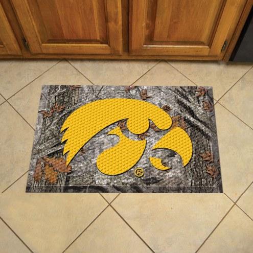 Iowa Hawkeyes Camo Scraper Door Mat