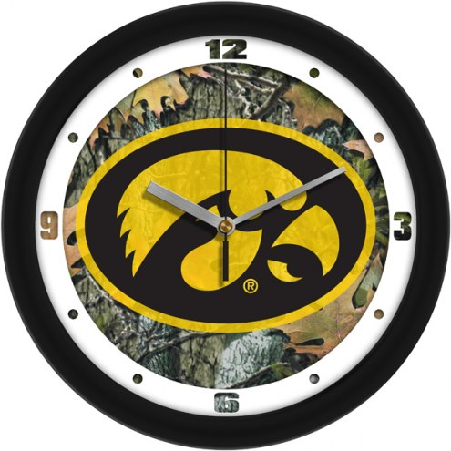 Iowa Hawkeyes Camo Wall Clock