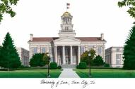 Iowa Hawkeyes Campus Images Lithograph