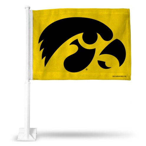 Iowa Hawkeyes Yellow Car Flag