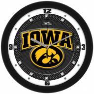 Iowa Hawkeyes Carbon Fiber Wall Clock