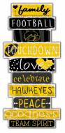 Iowa Hawkeyes Celebrations Stack Sign