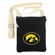 Iowa Hawkeyes Chevron Stitch Crossbody Bag