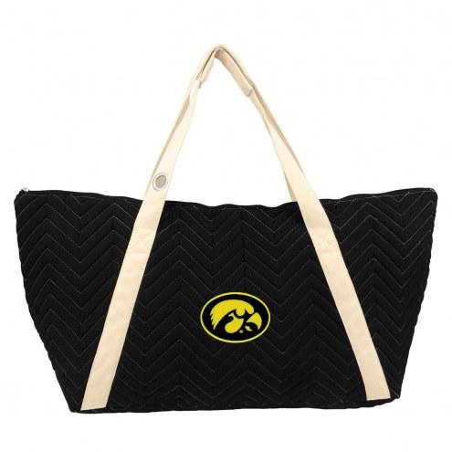 Iowa Hawkeyes Chevron Stitch Weekender Bag