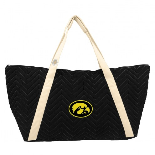 Iowa Hawkeyes Chevron Stitch Weekender Bag