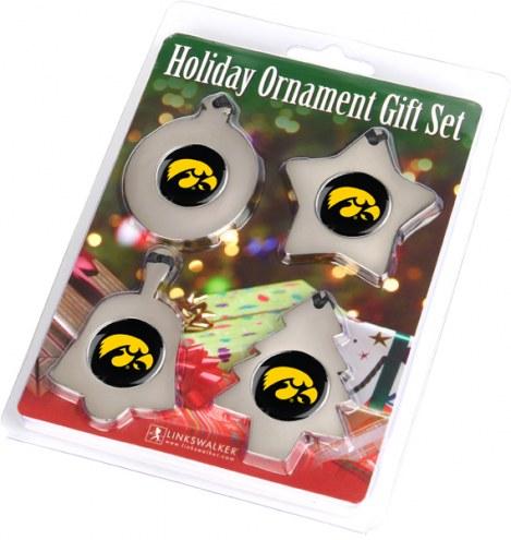 Iowa Hawkeyes Christmas Ornament Gift Set