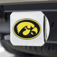 Iowa Hawkeyes Chrome Color Hitch Cover