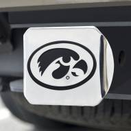 Iowa Hawkeyes Chrome Metal Hitch Cover