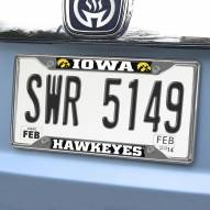 Iowa Hawkeyes Chrome Metal License Plate Frame