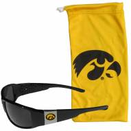 Iowa Hawkeyes Chrome Wrap Sunglasses & Bag