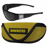 Iowa Hawkeyes Chrome Wrap Sunglasses & Sports Case