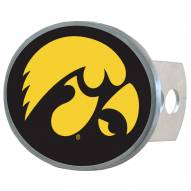 Iowa Hawkeyes Class II and III Oval Metal Hitch Cover