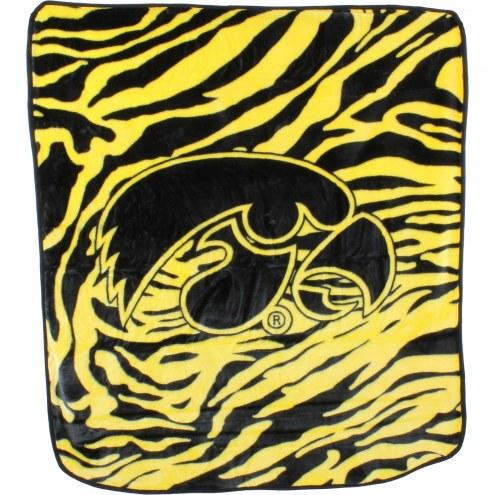 Iowa Hawkeyes Raschel Throw Blanket