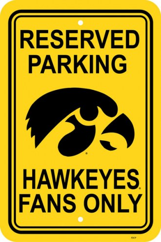 Iowa Hawkeyes College Parking Sign
