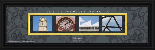 Iowa Hawkeyes Personalized Campus Letter Art