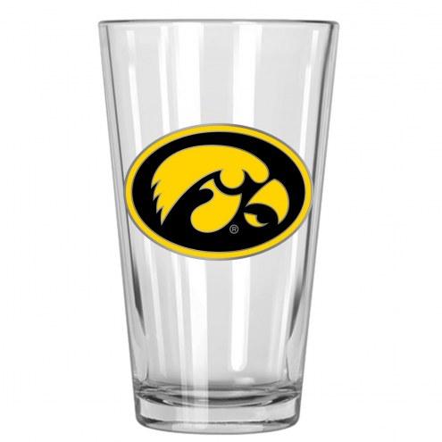 Iowa Hawkeyes College 16 Oz. Pint Glass 2-Piece Set