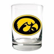 Iowa Hawkeyes College 2-Piece 14 Oz. Rocks Glass Set