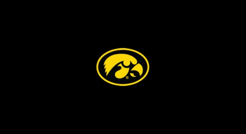 Iowa Hawkeyes College Team Logo Billiard Cloth