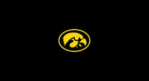Iowa Hawkeyes College Team Logo Billiard Cloth