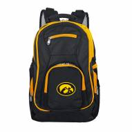 NCAA Iowa Hawkeyes Colored Trim Premium Laptop Backpack