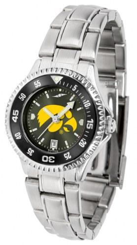 Iowa Hawkeyes Competitor Steel AnoChrome Women's Watch - Color Bezel