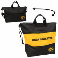 Iowa Hawkeyes Crosshatch Expandable Tote