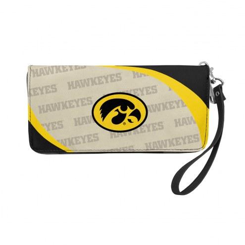 Iowa Hawkeyes Curve Zip Organizer Wallet
