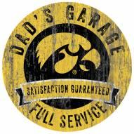 Iowa Hawkeyes Dad's Garage Sign