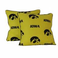 Iowa Hawkeyes Decorative Pillow Set