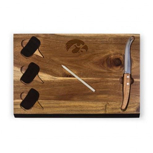 Iowa Hawkeyes Delio Bamboo Cheese Board & Tools Set