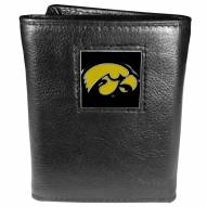 Iowa Hawkeyes Deluxe Leather Tri-fold Wallet in Gift Box