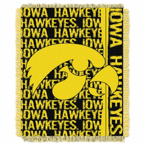 Iowa Hawkeyes Double Play Woven Throw Blanket