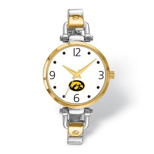 Iowa Hawkeyes Elegant Ladies Two-Tone Watch