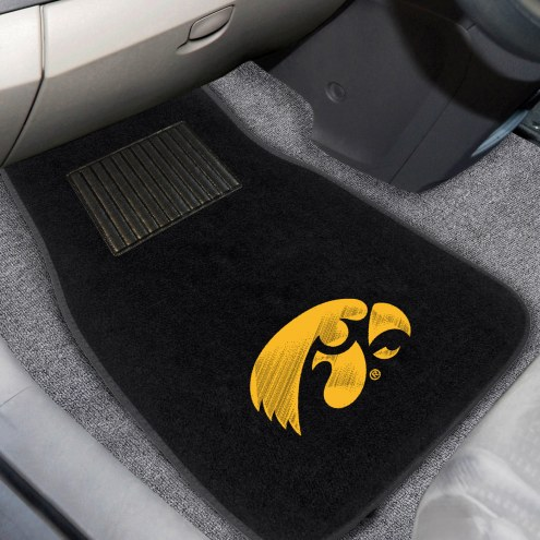 Iowa Hawkeyes Embroidered Car Mats
