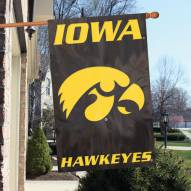 Iowa Hawkeyes NCAA Embroidered / Applique College Flag Banner