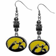 Iowa Hawkeyes Euro Bead Earrings