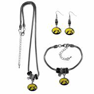 Iowa Hawkeyes Euro Bead Jewelry 3 Piece Set