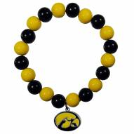 Iowa Hawkeyes Fan Bead Bracelet